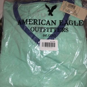 Four Men's American Eagle XXL V-Neck T-Shirts